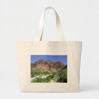 Chihuahuan Desert scene 08 arroya Large Tote Bag