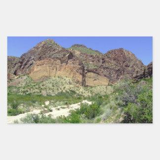 Chihuahuan Desert scene 08 arroya Rectangular Stickers