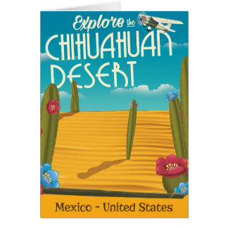 Chihuahuan Desert USA mexico travel poster Card