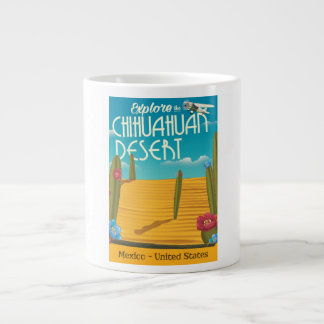 Chihuahuan Desert USA mexico travel poster Large Coffee Mug