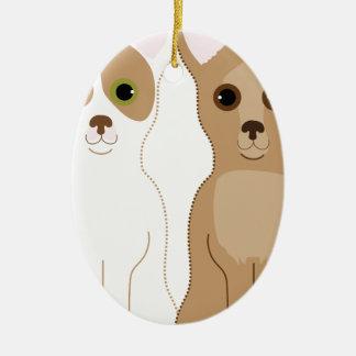 Chihuahuas Ceramic Ornament