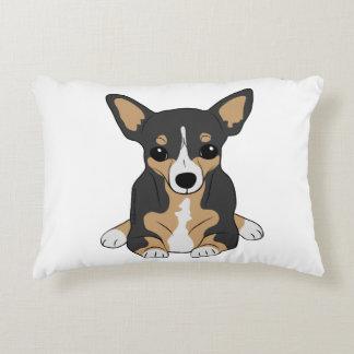 Chihuahuas: Cute Tri-Color Chihuahua Decorative Pillow