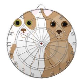 Chihuahuas Dartboard With Darts