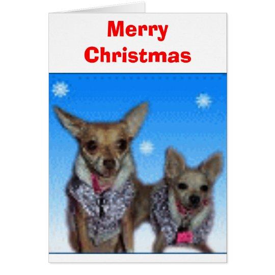 Chihuahuas de las Felices Navidad Tarjeta De Felicitación