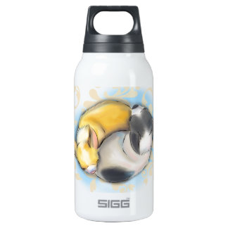 Chihuahuas el dormir botella isotérmica de agua
