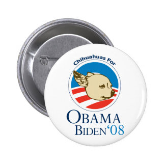 Chihuahuas for Obama Pinback Button