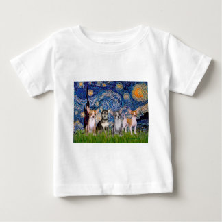 Chihuahuas (four) - Starry Night Tshirts