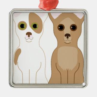 Chihuahuas Metal Ornament