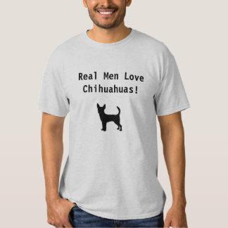¡Chihuahuas reales del amor de los hombres! Playeras