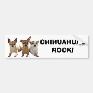 Chihuahuas Rock Bumper Sticker Car Bumper Sticker