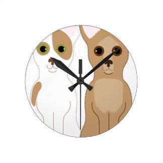 Chihuahuas Round Clock