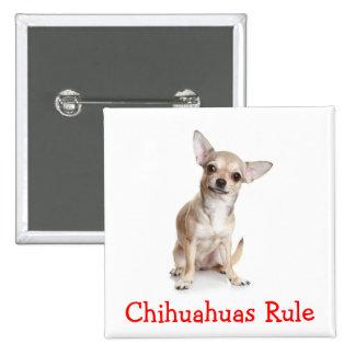 Chihuahuas Rule Button Pin