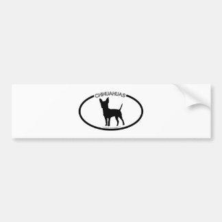 Chihuahuas Silhouette Black Bumper Sticker Car Bumper Sticker