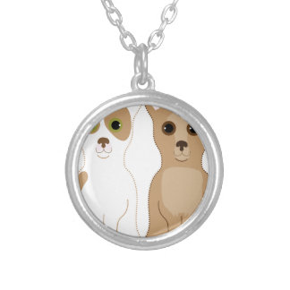 Chihuahuas Silver Plated Necklace