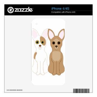 Chihuahuas Skins Para eliPhone 4