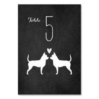 Chihuahuas Wedding Table Card