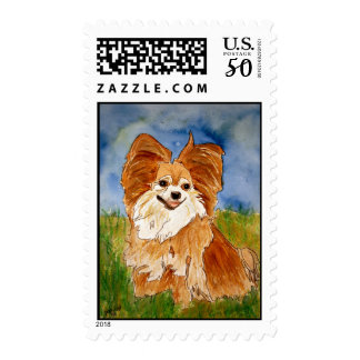 chihuawa 2 dog postage stamps stamp art