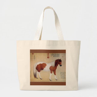 Chihuaying~赤花鹰~ Ten Steeds ~Giuseppe Castiglione ~ Large Tote Bag