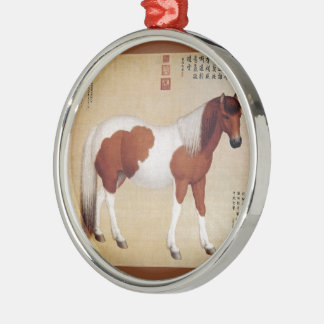 Chihuaying~赤花鹰~ Ten Steeds ~Giuseppe Castiglione ~ Metal Ornament