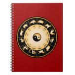 Chiinese Zodiac Wheel Note Books