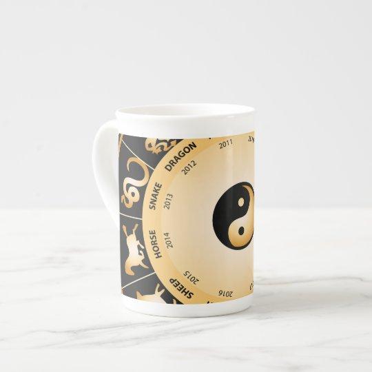 Chiinese Zodiac Wheel Tea Cup
