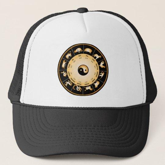 Chiinese Zodiac Wheel Trucker Hat