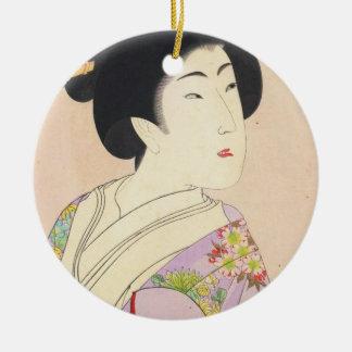 Chikanobu Yoshu True Beauties Unknown Title Ceramic Ornament