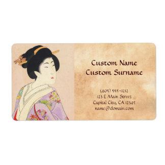 Chikanobu Yoshu True Beauties Unknown Title Label