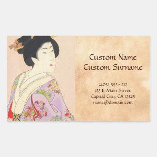 Chikanobu Yoshu True Beauties Unknown Title Rectangular Sticker