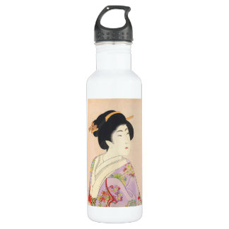 Chikanobu Yoshu True Beauties Unknown Title Stainless Steel Water Bottle