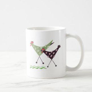 ¡Chikens, funcionamiento! taza de café del arte