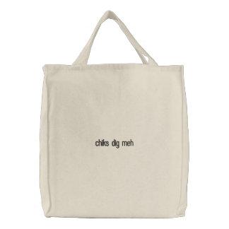 chiks dig meh embroidered bag