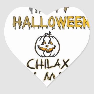 Chilax Happy Halloween Hakuna Matata Heart Sticker