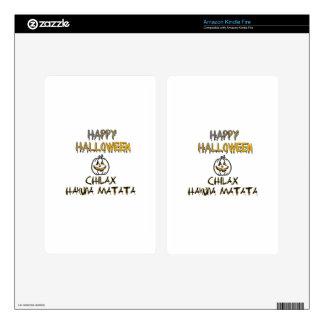 Chilax Happy Halloween Hakuna Matata Kindle Fire Decals