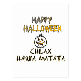 Chilax Happy Halloween Hakuna Matata Postcard