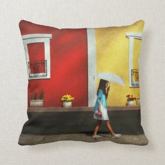 Child - A bright sunny day Pillow