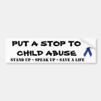 Child abuse awareness car bumper sticker