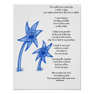 Child Abuse Awarness Poem Art Poster