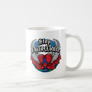 Child Abuse Biker Wings Coffee Mugs