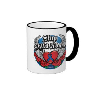 Child Abuse Biker Wings Coffee Mug