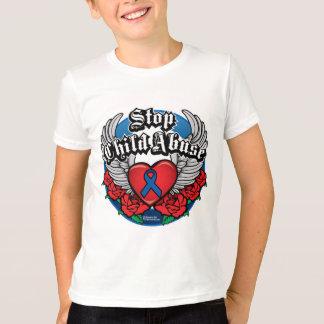 Child Abuse Biker Wings T-Shirt