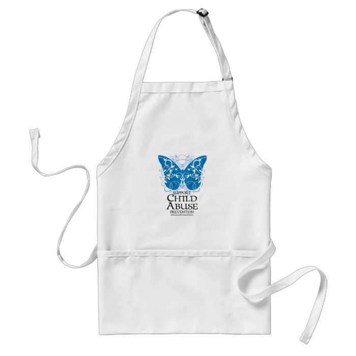 Child Abuse Butterfly Adult Apron