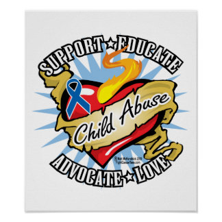 Child Abuse Classic Heart Poster
