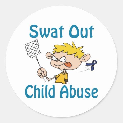 Child-Abuse Classic Round Sticker