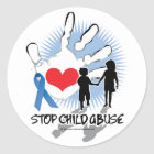 Child Abuse Handprint Classic Round Sticker