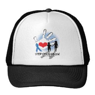 Child Abuse Handprint Trucker Hat