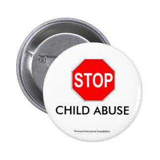 CHILD ABUSE PINBACK BUTTON