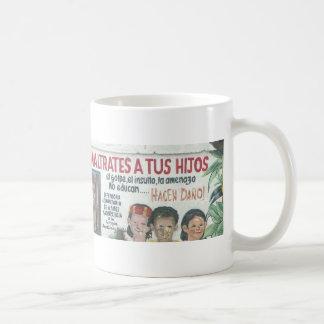 Child abuse poster (mural), Ecudaor Coffee Mugs