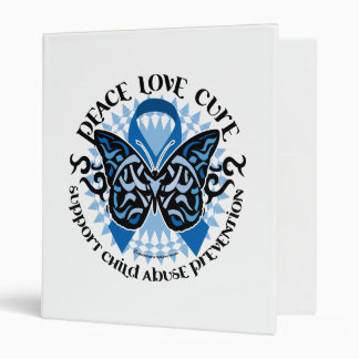 Child Abuse Prevention Butterfly Tribal Binder