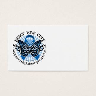 Child Abuse Prevention Butterfly Tribal Business Card